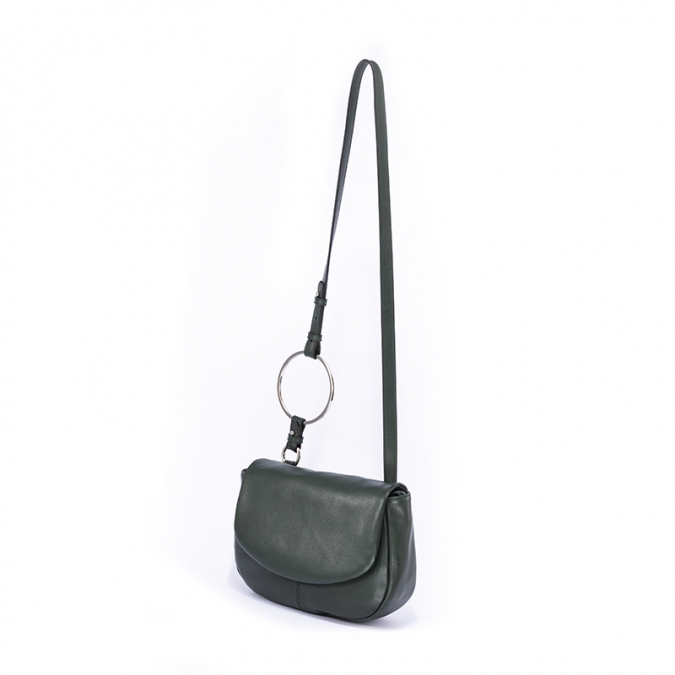 Soft  Saddle Crossbody Cow Leather Bag from Leather bag factory